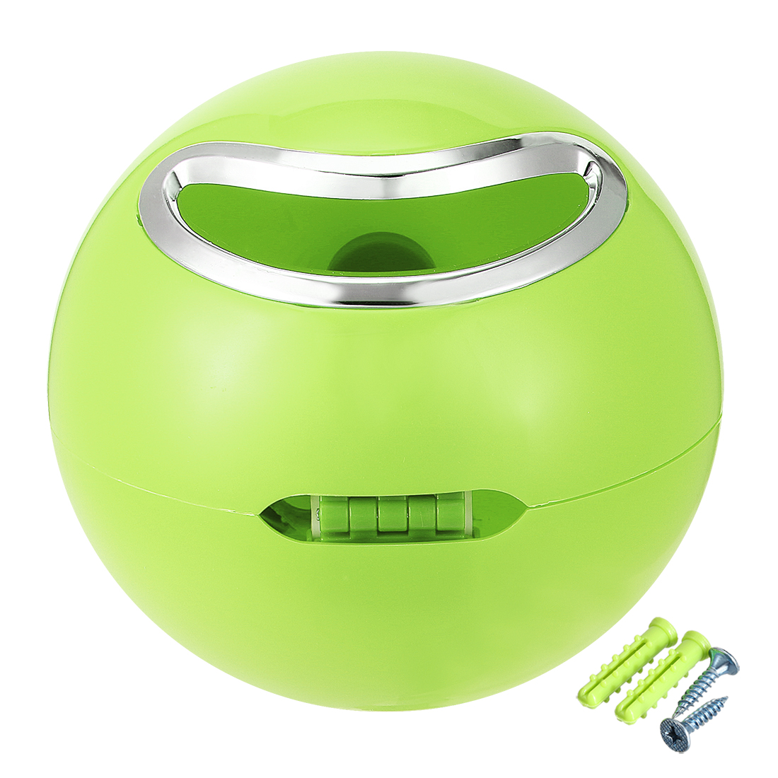 Unique Bargains 180mm Dia ABS Plastic Green Dual-Purpose Round Toilet Roll Paper Holder - image 7 of 7