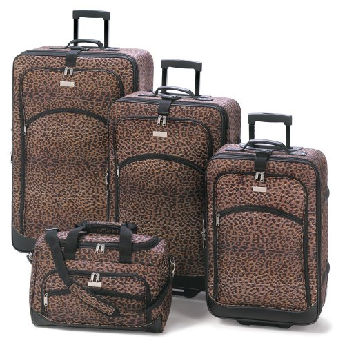 Home Locomotion Leopard Print Luggage Ensemble