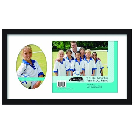 8x10 Inch and 5x7 Inch Team Frame with 2 Photo Openings, Black (46683), Holds two photos: 8 by 10 and 5 by 7-inch By MCS