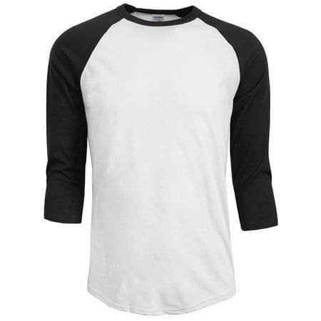 EFINNY Men's 3/4 Sleeve Plain T-Shirt Lot Baseball Running Tee Sports Top Blouse ()