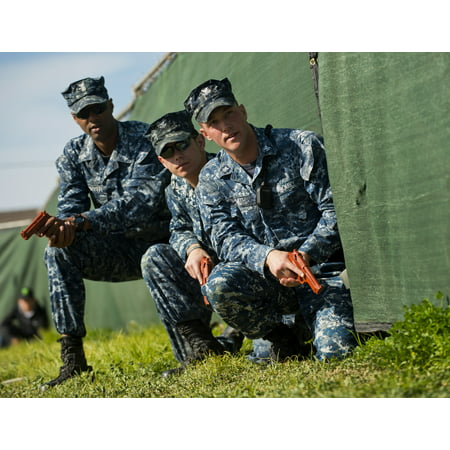 LAMINATED POSTER Sailors from base security set up a perimeter during an  active shooter scenario as part of Citadel S Poster Print 24 x 36