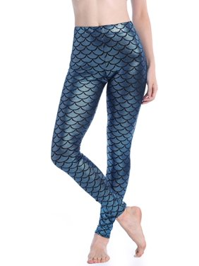 a5c406f0e90bc Product Image SAYFUT Women's Seamless Stretchy Leggings Workout Training  Yoga Pants Full Length Mermaid Fish Scale Printed Knit