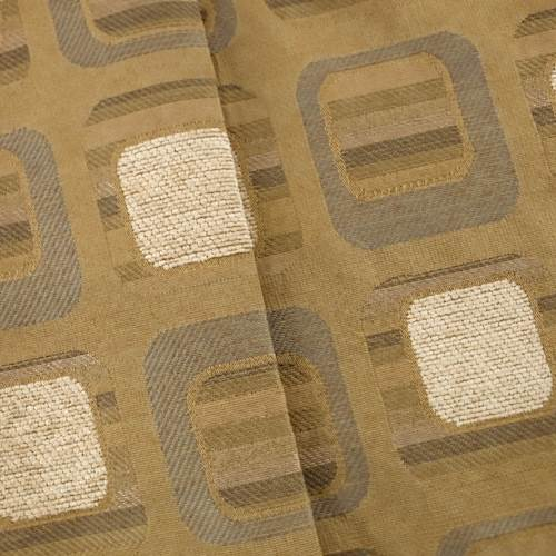 Beige/Brown Jacquard Square Home Decorating Fabric, Fabric By the Yard