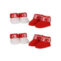 Champion Baby Unisex Bootie Socks, 4 Pack Booties (0-6M)