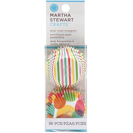 Modern Festive Mini Treat Wrappers, 96-Pack, 1.25