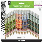 Zebra Cadoozles Mechanical Pencil, 0.9mm Point Size, Standard HB Lead, Assorted Woodlands Barrel Patterns, 28-Count