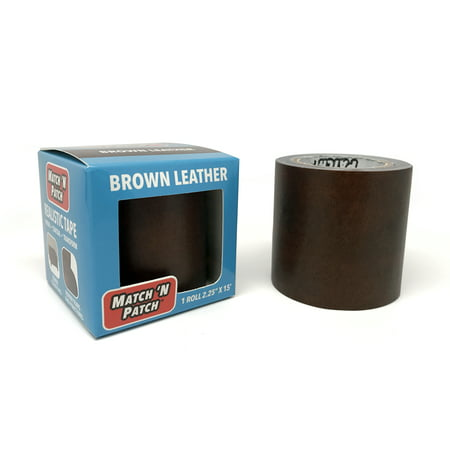 Match 'N Patch Brown Leather Repair Tape, 2.25 in. x 15 ft