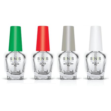 SNS Nails Prep for Dipping Powder - Gel Base, Gel Top, Sealer Dry, EA Bond 4ct Top Gel Sealer