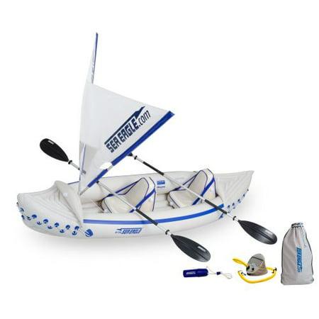 Sea Eagle SE330 Inflatable Sport Kayak QuikSail (Eagle Package)