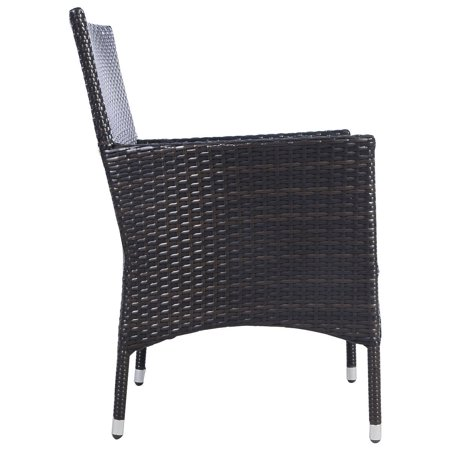 2PC Chairs Outdoor Patio Rattan Wicker Dining Arm Seat w/ Cushions - image 3 of 10