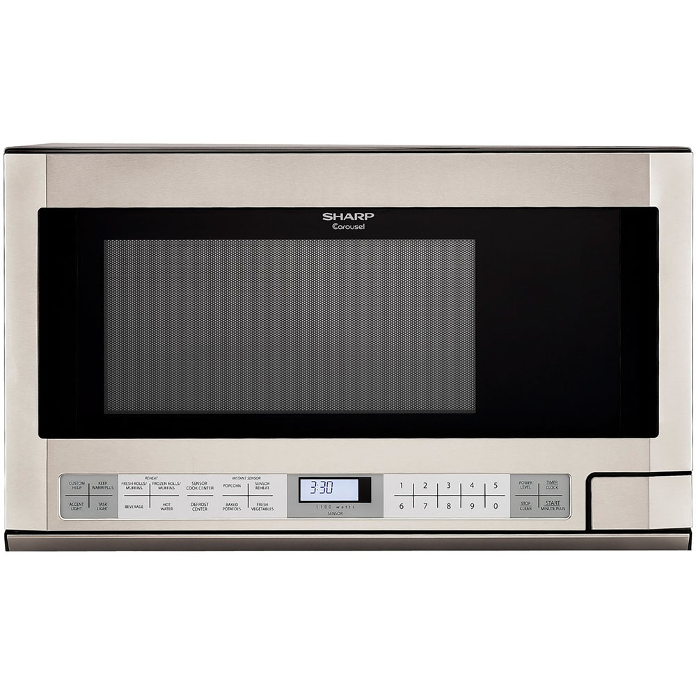 Sharp R1214 Carousel Over-the-Counter Microwave Oven 1.5 ...