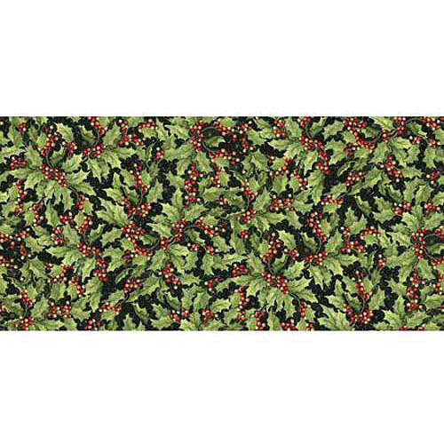 """Springs Creative Christmas Packed Toys and Holly, Multi-Colored, 43/44"""" Wide, Fabric By the Yard"""