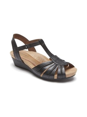 Women's Rockport Cobb Hill Hollywood Pleated T Strap Sandal