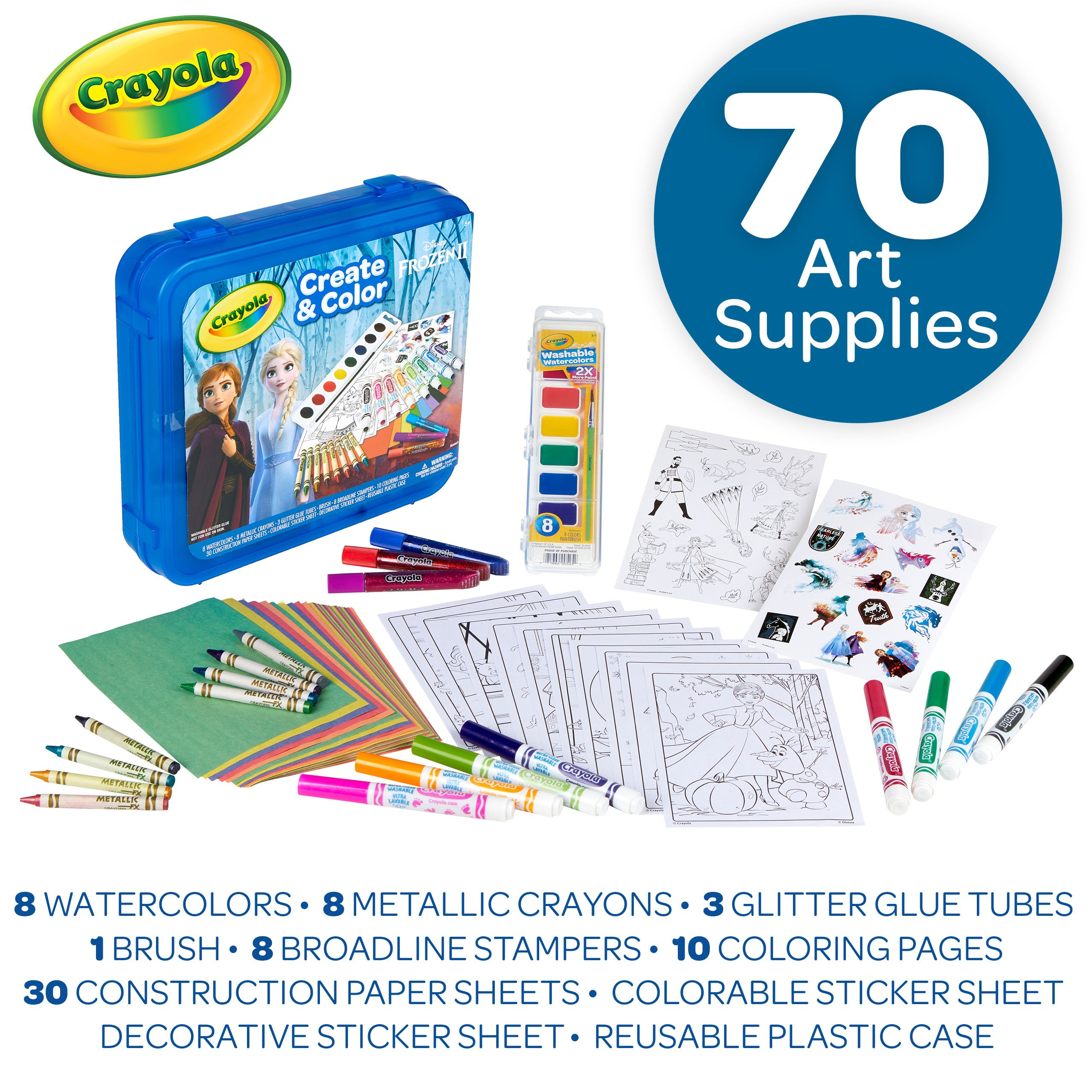 DISNEY Mickey Mouse 2 Pack Color Me Pillow LOT With 10 Crayola Pillow Markers