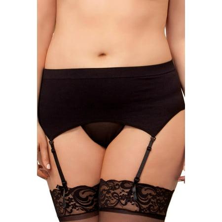 Plus Size Full Figure High Waisted Seamless Garter - Nylon Garter