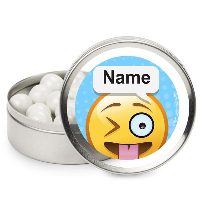 Costume Supercenter BB1468MT Emoji Personalized Mint Tins - Pack of 12