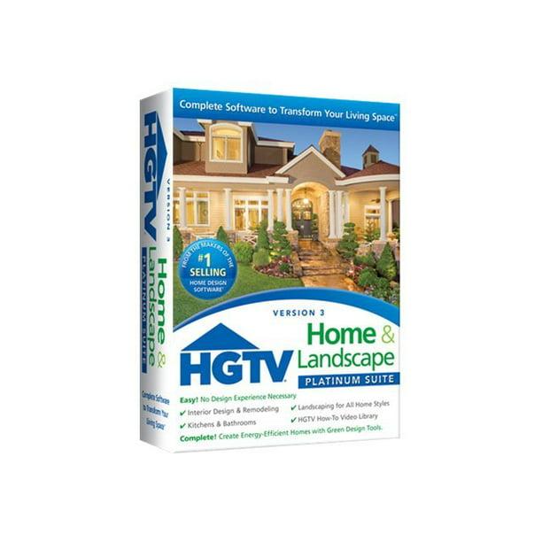Hgtv Home Landscape Platinum Suite V 3 Box Pack 1 User Dvd Win Walmart Com Walmart Com