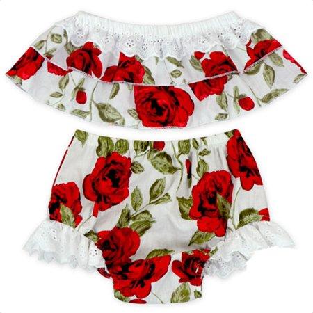 Hobo Outfit (Toddler Infant Baby Girls Floral Off Shoulder Tops+Bottoms Briefs 2pcs Outfits Set)