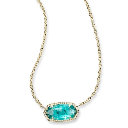 - Elisa London Blue Necklace Gold