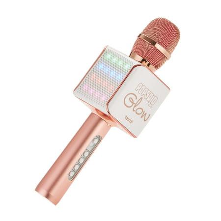 Tzumi PopSolo Glow Wireless LED Bluetooth Karaoke Microphone (Rose