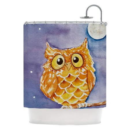 Kess Inhouse Padgett Mason Owl Frog Shower Curtain