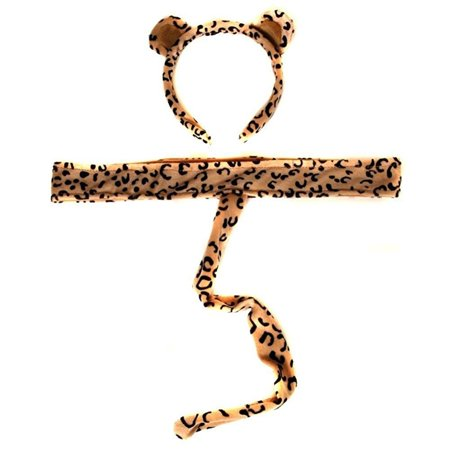Plush Leopard Headband Ears and Tail - Leopard Ears And Tail