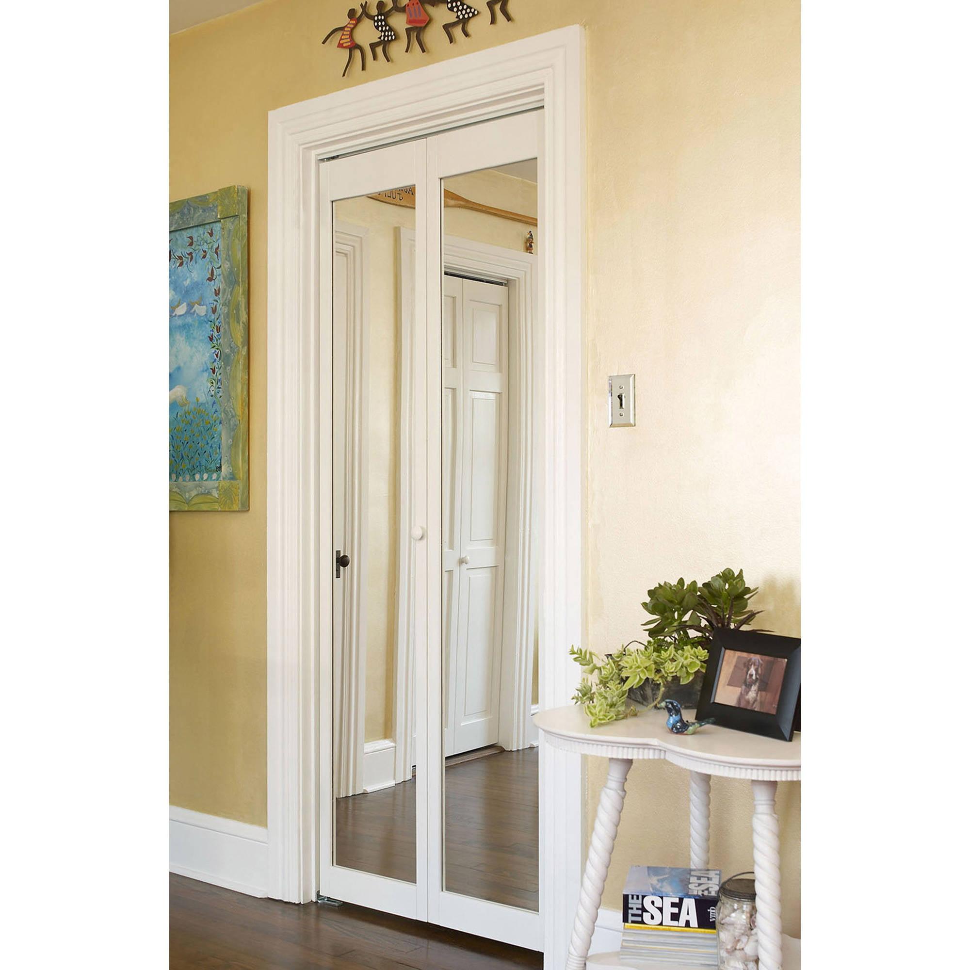 Mirror Bifold Doors awc 907 traditional mirror bifold door - walmart