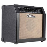 "GT-15 Professional 3-Band EQ 2 Channel Electric Guitar Amplifier Distortion Amp 15W with 5"" Speaker"