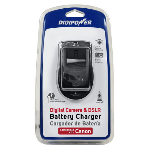 DigiPower QC-500CN Travel Battery Charger for Canon Compact and DSLR Cameras