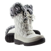 ArcticShield Women's Waterproof Memory Foam Fur Winter Snow Boots