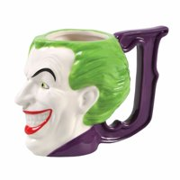 Zak Designs BTMC-8512 Batman Comics Joker Ceramic Sculpted Mug