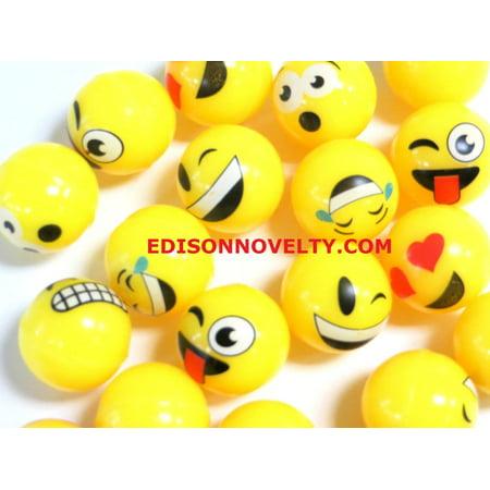 Emoji High Bounce Balls (20 Per Order) 25mm (Ball Emoji)