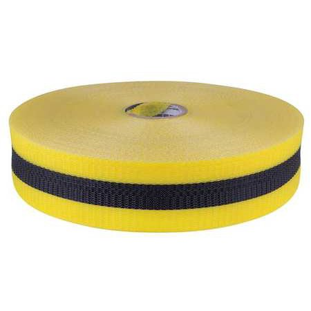 WB2BY Barrier Tape, Woven, 2 In, x 200 ft,