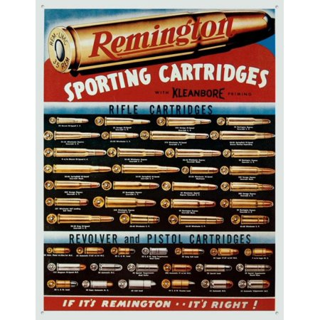 Remington Sporting Cartridges Tin Sign 13 x 16in, Vintage Remington wall  decor will look great in your garage, man cave, or even your bar or pub By