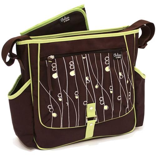 Chelsea & Main - Baby Zen Diaper Bag, Brown and Green