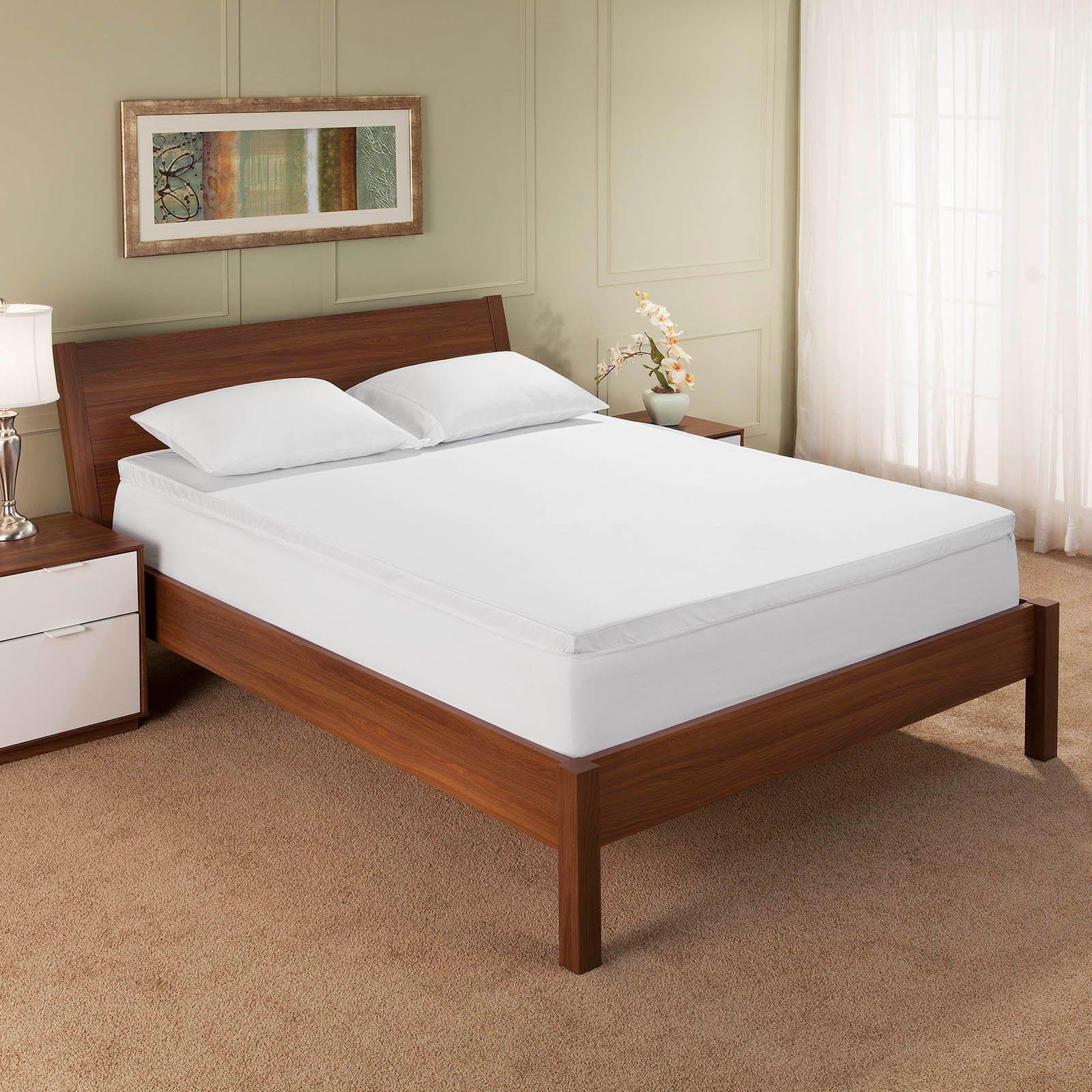 sleep innovations 2 gel memory foam mattress topper walmart com