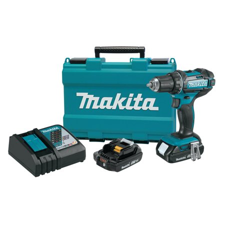 Makita 18V LXT Lithium-Ion Compact Cordless 1/2-Inch Driver-Drill Kit | XFD10R