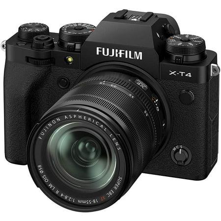 Fujifilm X-T4 26.1MP 4K Mirrorless Digital Camera with 18-55mm Lens Kit (Black) 16652879