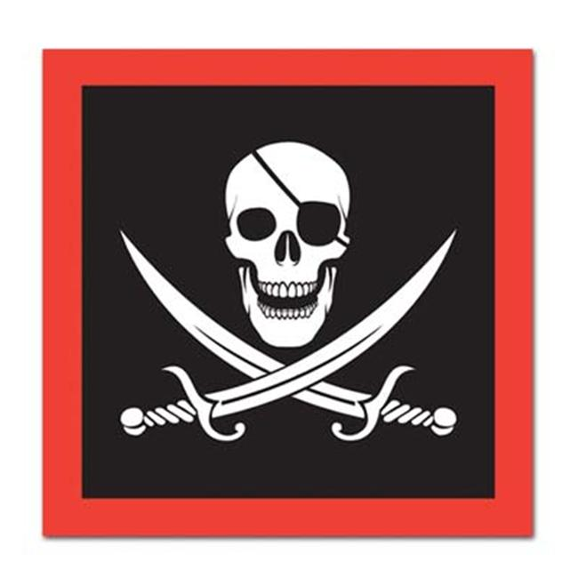 Beistle - 58154 - Pirate Beverage Napkins- Pack of 12