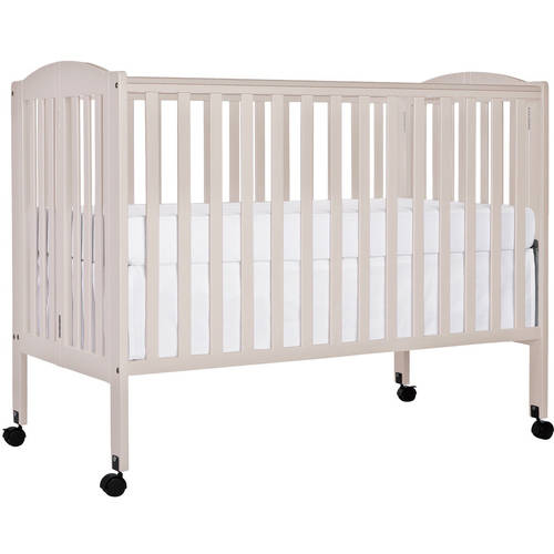 Dream On Me 2-in-1 Folding Full-Size Crib, French White