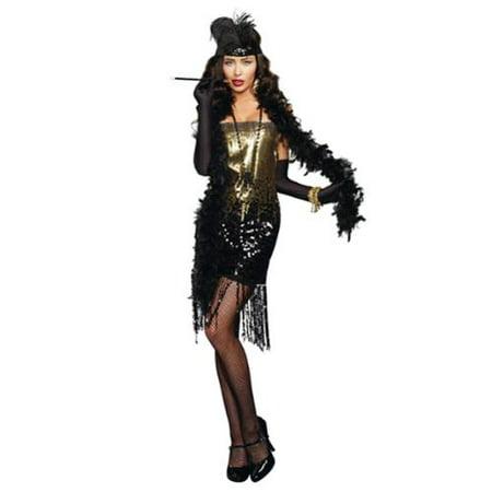 Dazzle Me Roaring 20's Flapper Adult Costume - Roaring 20's Centerpiece Ideas