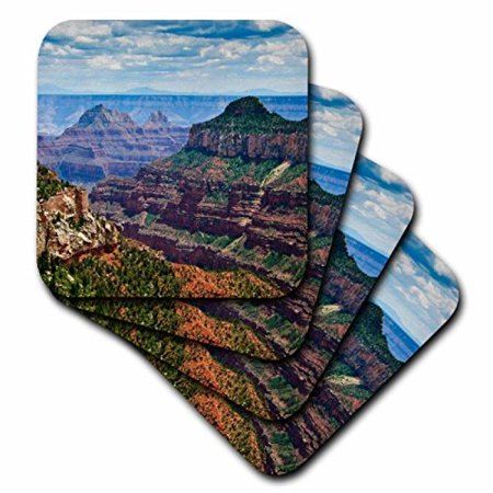 3dRose North Rim, Grand Canyon National Park, AZ - US03 MWI0000 - Mark Williford, Ceramic Tile Coasters, set of 4