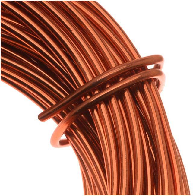Copper German Bead Wire Craft Wire 24 Gauge/.5mm (12 Meters / 39.3 Feet)