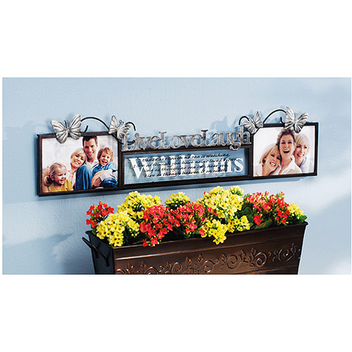 Personalized Live Love Laugh Double Frame, 4x6