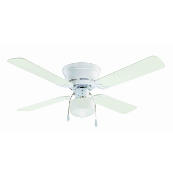 42 mainstays hugger indoor ceiling fan with light white walmart mozeypictures Images