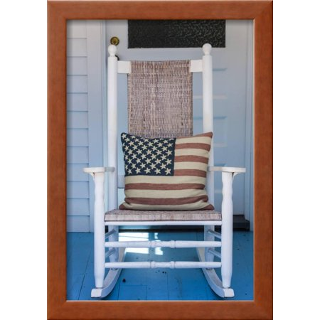 Groovy Usa Massachusetts Cape Cod Provincetown The West End Rocking Chair With Us Flag Framed Print Wall Art By Walter Bibikow Alphanode Cool Chair Designs And Ideas Alphanodeonline