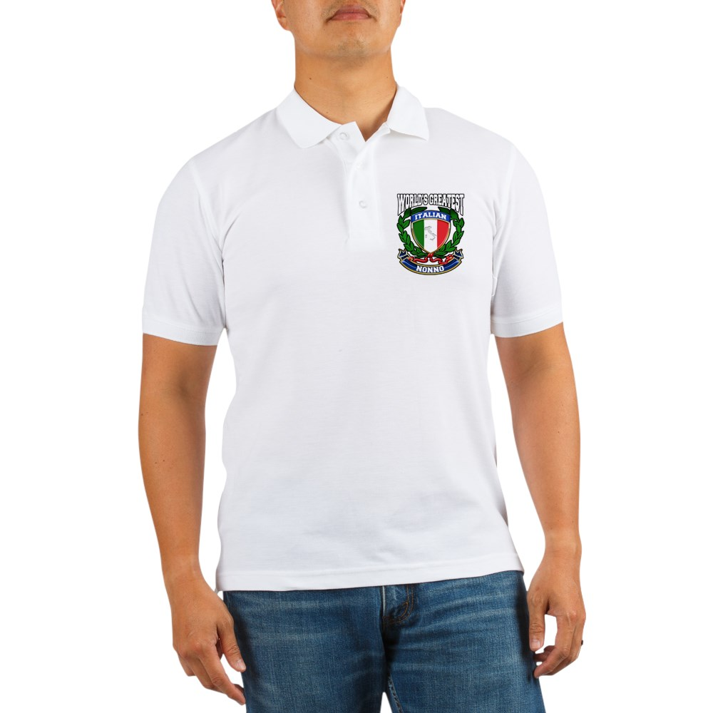 CafePress - World's Greatest Italian Nonno Golf Shirt - Golf Shirt, Pique Knit Golf Polo