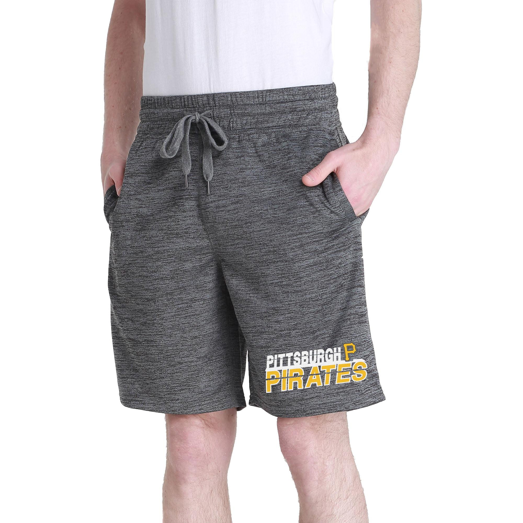 Men's Charcoal Pittsburgh Pirates Chip Fleece Jam Shorts