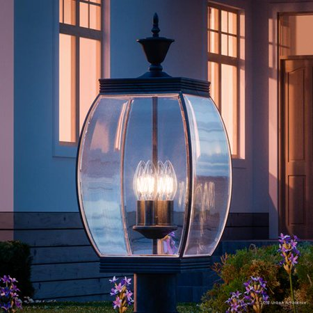 Urban Ambiance Luxury Colonial Outdoor Post Light, Large Size: 26.5