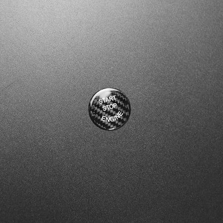Carbon Fiber Start Button Cover Cap Trim Car Styling for BMW - image 4 de 7